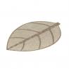 Juego de 4 salvamanteles de mesa hoja beige fibra 50 x 33 cm .