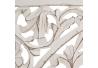 Mural de espejo romántico blanco de madera para decoración Vitta