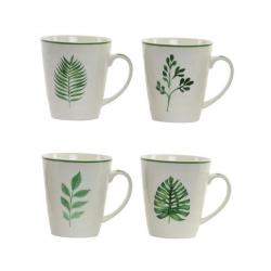 Tazas tendencia porcelana botanico 360 cc (Set de 4 tazas)