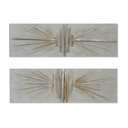 Set 2 cuadro lienzo abstracto 2 modelo 150x50 cm