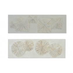 Set 2 cuadro lienzo relieve 2 modelo 150x50 cm