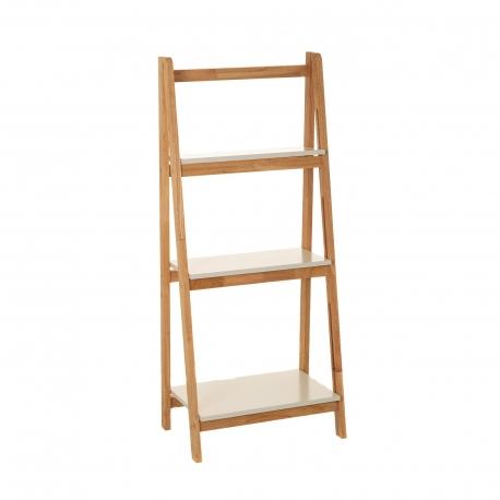 estanter a de 3 baldas n rdica marr n de madera de cuarto