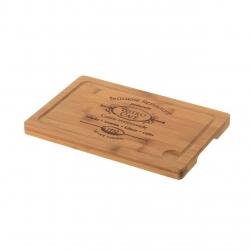 Tabla de cortar clásica marrón de bambú para cocina France