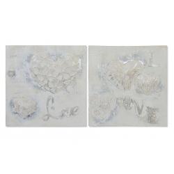 Set 2 cuadro lienzo relieve 2 modelo 80x80 cm