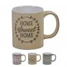 Tazas ceramica home sweet home 350 cc (Set de 3 tazas)