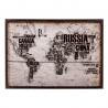 Cuadro mapa mundo de diseño 70x50 cm
