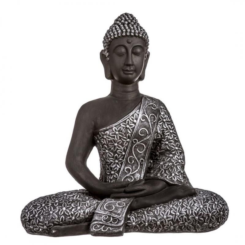 Figura buda de suerte sentado resina grande 66 cm de altura dcasa - Figuras buda decoracion ...