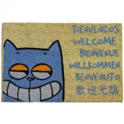 Felpudo con Diseño Gato Bienvenido 60 x 40 cm