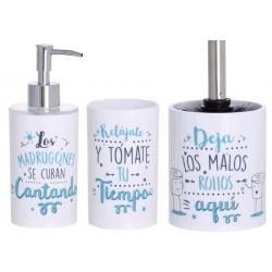 """Accesorios de baño original """"CANTANDO RELAJATE Y MALOS ROLLOS """"de pvc para cuarto de baño"""
