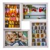 Portafotos multiple blanco 4 fotos 37 x 37 cm
