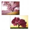 Set 2 cuadro lienzo de árbol de la vida lila provenzal para salón de France