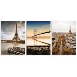 Set 3 cuadro lienzo ciudad 50x70 cm