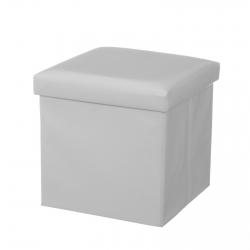 Puff plegable minimalista blanco de pu para dormitorio Basic