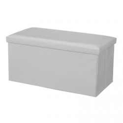 Puff plegable minimalista blanco de pu para salón Basic