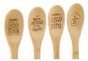 Set 4 cucharas bambu con frases 4 modelo surtido