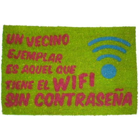 Felpudo original con frases wifi divertido 40x60 cm