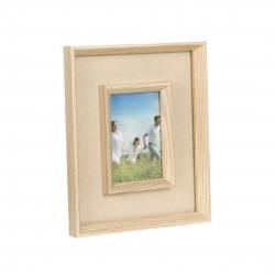 Portafotos yute 10x15 de madera