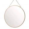 Espejo de pared redondo oro 25 cm