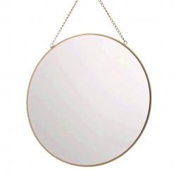 Espejo de pared redondo oro 35 cm
