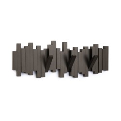 Perchero decorativo de pared Sticks Marron