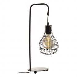 Lámpara sobremesa loft nórdica negra industrial