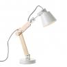 Lámpara flexo de madera blanca de diseño nórdica para salón Vitta