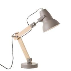 Lámpara flexo de madera gris de diseño moderna para salón Factory