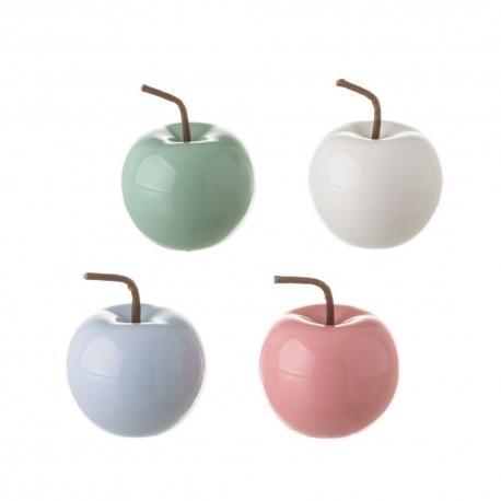 "Manzana ceramica colores decorativa ""Set 4 pieza"""
