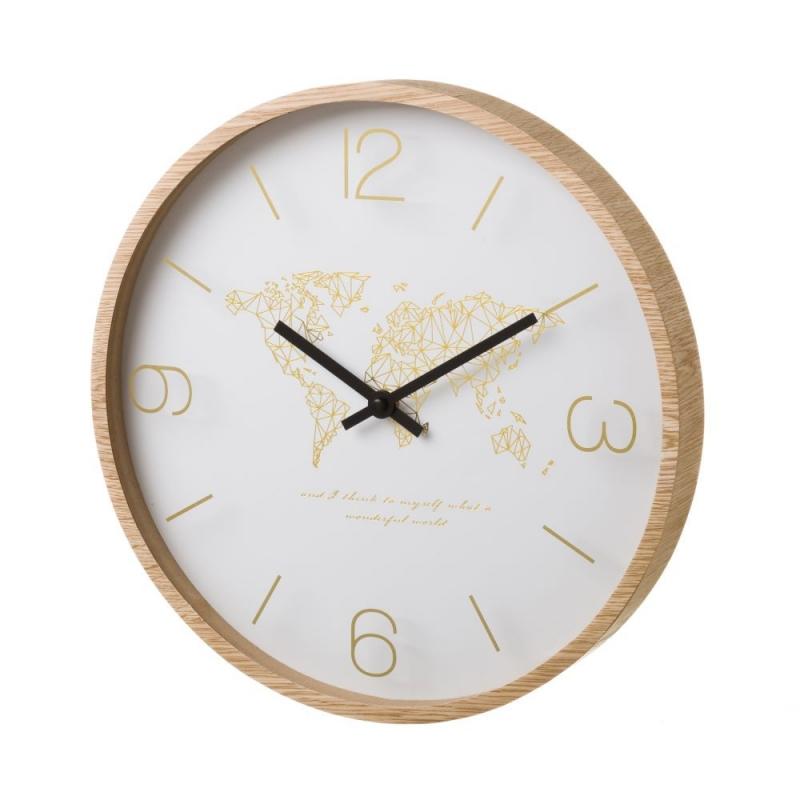 Reloj de pared de madera beige n rdico para cocina vitta - Reloj de pared para cocina ...