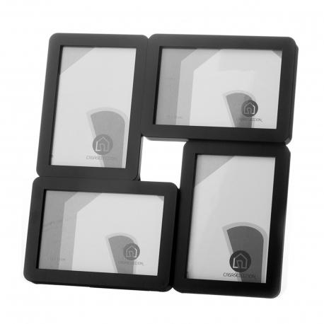 Portafotos multiple 4 fotos negro