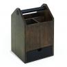 Caja de almacenamiento Umbra Toto negro y nogal