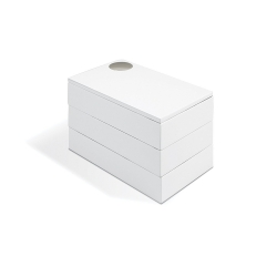 Umbra - Caja Joyero Spindle Blanco
