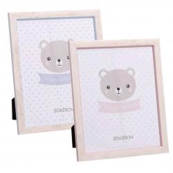 Pack 2 Portafotos diseño infantil ositos tamaño 20x25 .