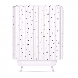 Cortina baño peva estrellas 180x200 cm