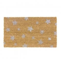 Felpudo de fibra de coco estrellas 40x70