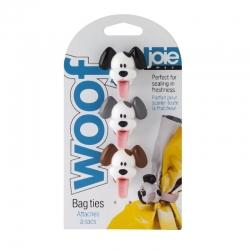 Set de 3 cierra bolsas perro