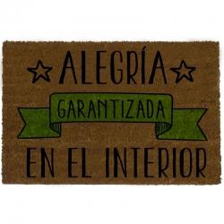 Felpudo Alegría, PVC, Marrón, 60x40x3 cm