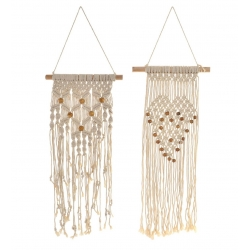 Set 2 Tapiz decorativa boho para pared poliester 34x78 cm