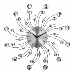Reloj de pared metal plata 45x45 cm