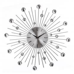 Reloj de pared metal plata arayas 50x50 cm
