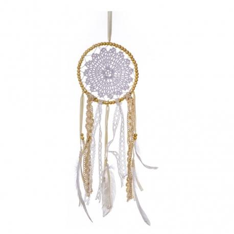 Atrapasueños natural tribal decorativa 45 cm