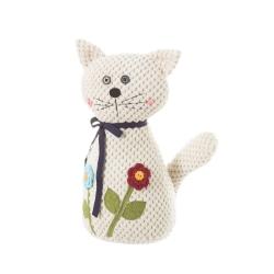 Sujetapuertas de gato blanco de tela / arena clásico para decoración France