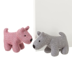 Sujetapuertas de perro rosa de tela / arena moderno para salón Iris