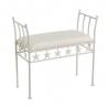 Banqueta de pie de cama de metal blanca moderna para dormitorio Fantasy