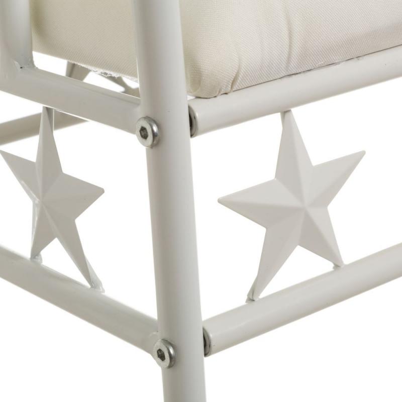 Banqueta de pie de cama de metal blanca moderna para - Banquetas para dormitorio ...