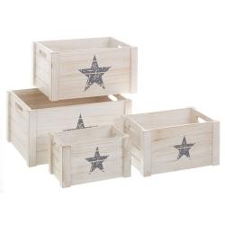 Cajas de madera blancas de diseño industrial para dormitorio Fantasy