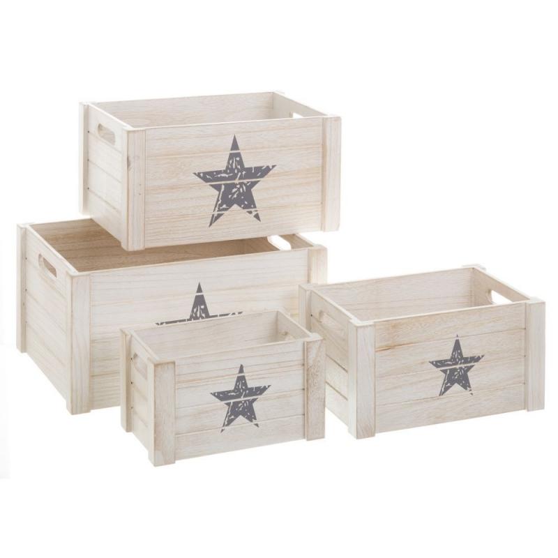 cajas de madera blancas de dise o industrial para