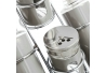 Aceitera vinagrera moderna gris de cristal para cocina Basic