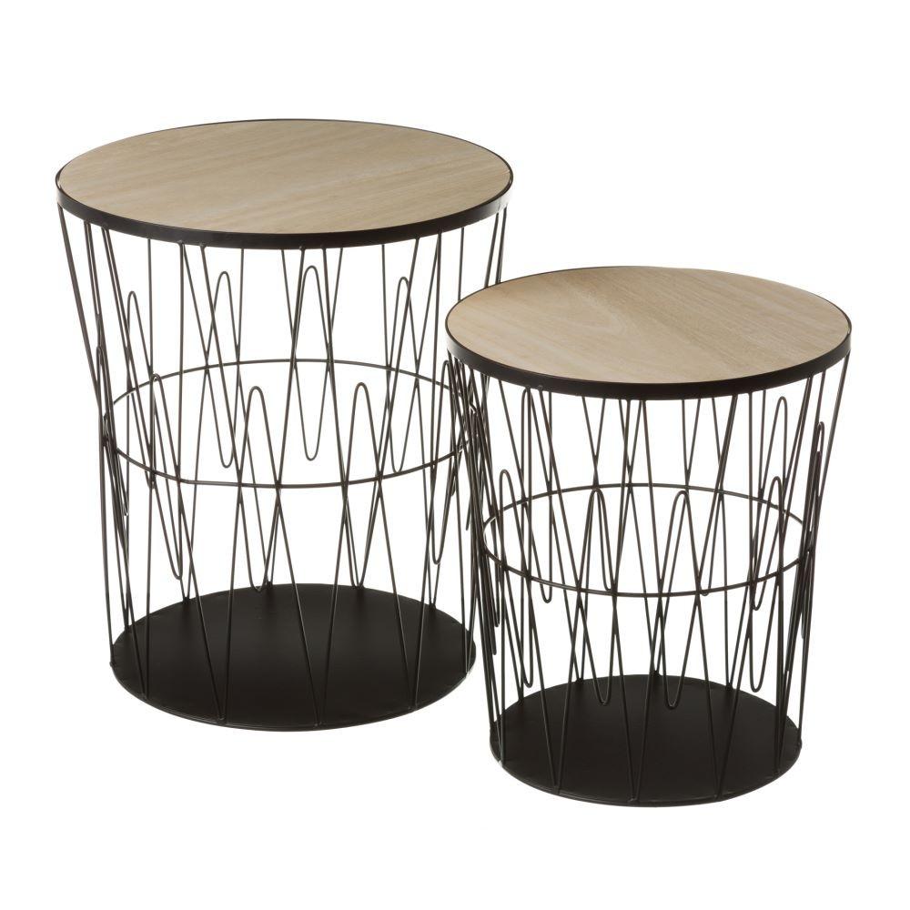 Mesas de salon plegables finest kibuc muebles y mesas de - Mesitas auxiliares de cristal ...