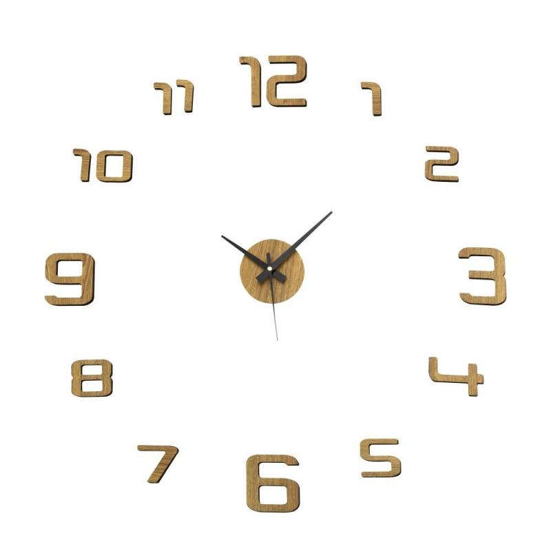 Reloj de pared de polipropileno beige moderno para sal n - Reloj de pared moderno ...